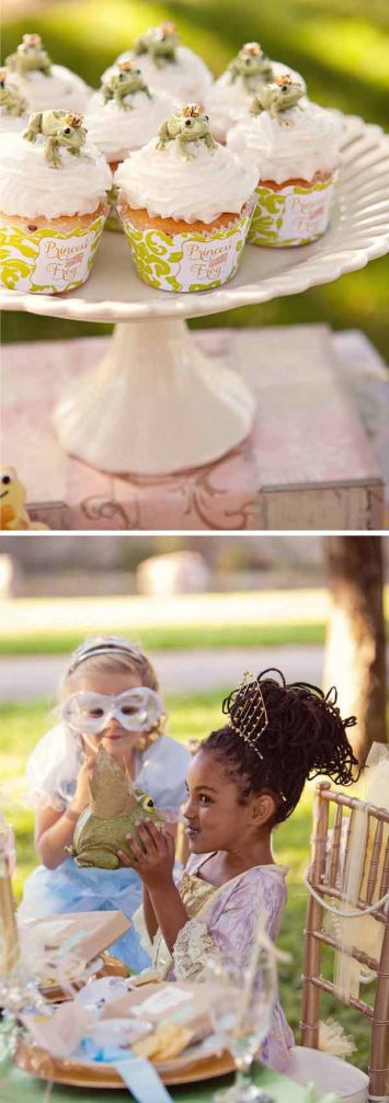 chá de bebê meninas verde sapo