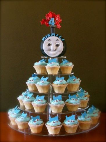 festa infantil thomas e seus amigos cupcake