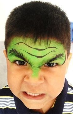 festa infantil vingadores pintura facial hulk