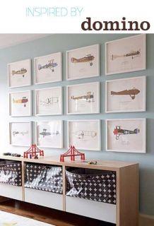 quadro para quarto de bebê aviões