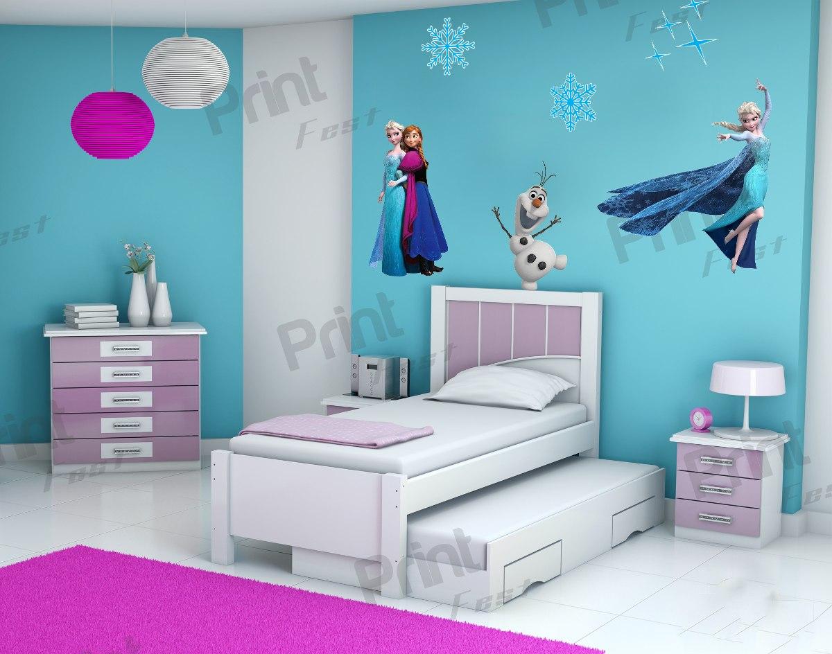 Fa A Uma Decora O De Quarto Infantil Especial Com O Tema Frozen ~ Desenho Para Quarto Feminino E Quarto De Menina Simples