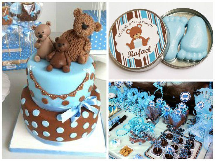 Muito Chá de bebê de ursos em 6 versões para você se apaixonar! IZ35