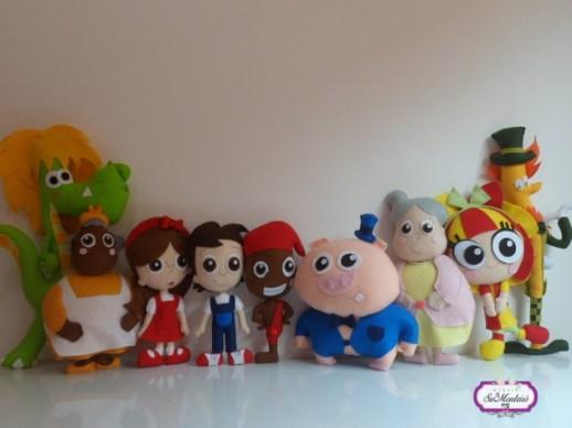 festa infantil bonecos kit turma feltro