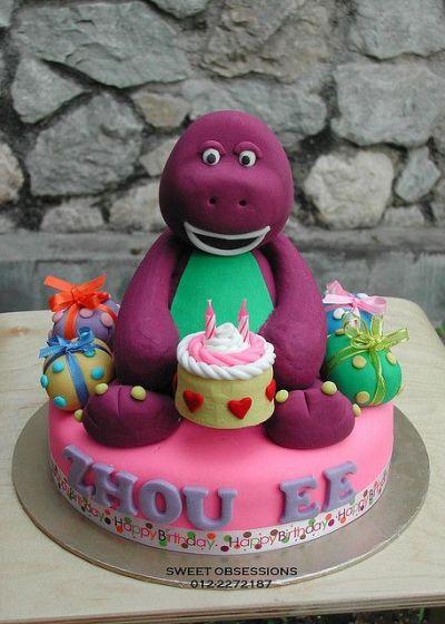 festa infantil dinossauro barney