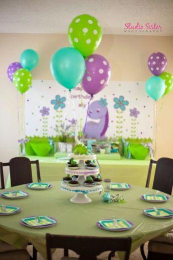 festa infantil dinossauro menina mesa