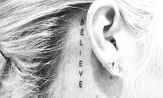 tatuagens para filhos acredite