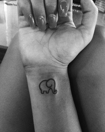 tatuagens para filhos elefante