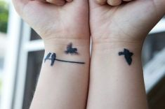 tatuagens para filhos pássaros