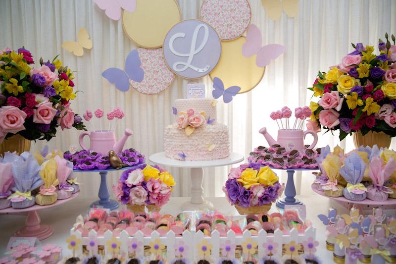 Decoraç u00e3o de festa Tema Jardim Encantado -> Decoração De Aniversario Jardim Encantado Das Borboletas