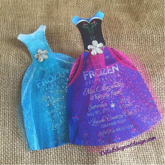 convite frozen vestidos