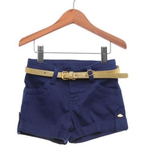 roupas infantis para férias tricae short feminino jeans