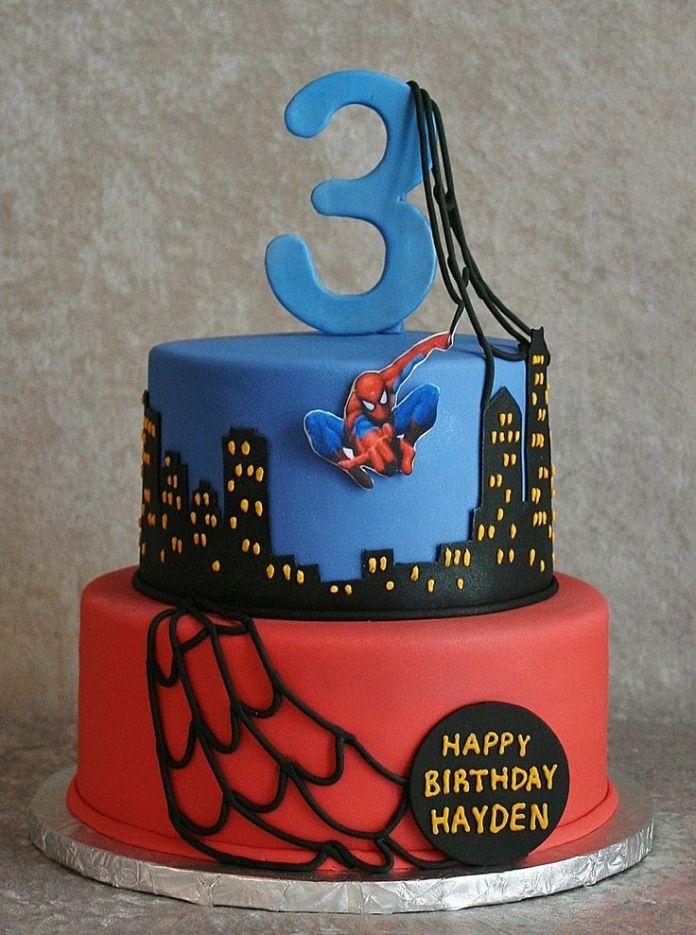 bolo-homem-aranha-aniversário