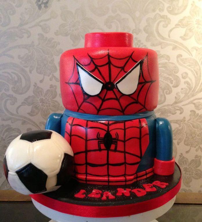 bolo-homem-aranha-lego