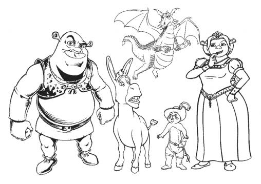 desenhos-para-colorir-Shrek-3-1024x724