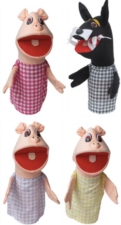 fantoches-lobo-mau-3-porquinhos