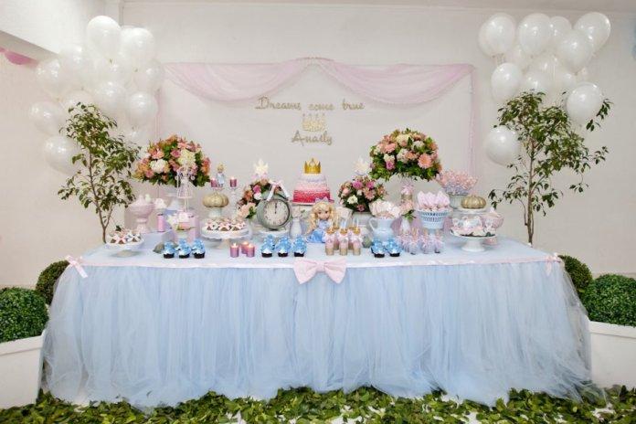 decoração de festa princesa cinderela