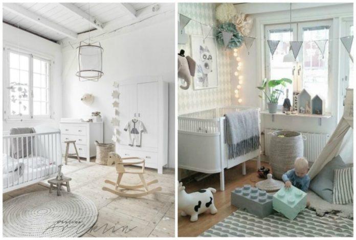 quarto de bebê com estilo escandinavo