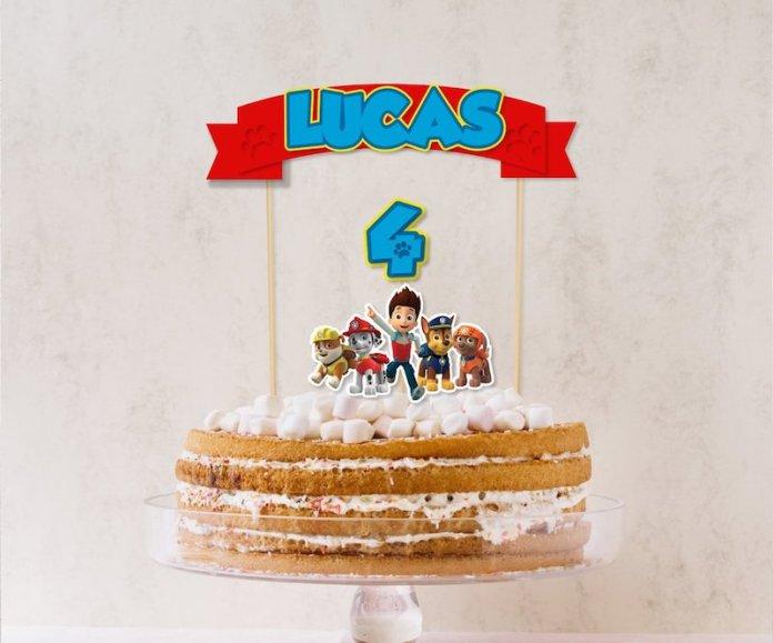 Ideias de bolo para Festa Infantil Patrulha Canina