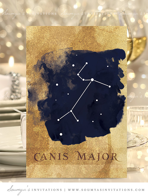 Navy Blue Wedding Invitation Starry Night Star Celestial Party Set Galaxy Save The Date Photo