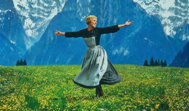 Photograph of Julie Andrews in the 1964 Hollywood movie The Sound of Music. The most famous song in this musical, Doe-a-deer, teaches the Do-Re-Mi scale. Image Credit : sound-of-music-dot-com.