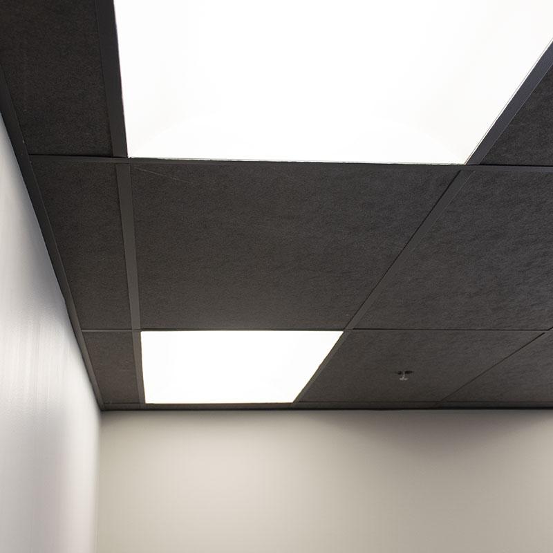 black acoustic ceiling tile sound acoustic solutions