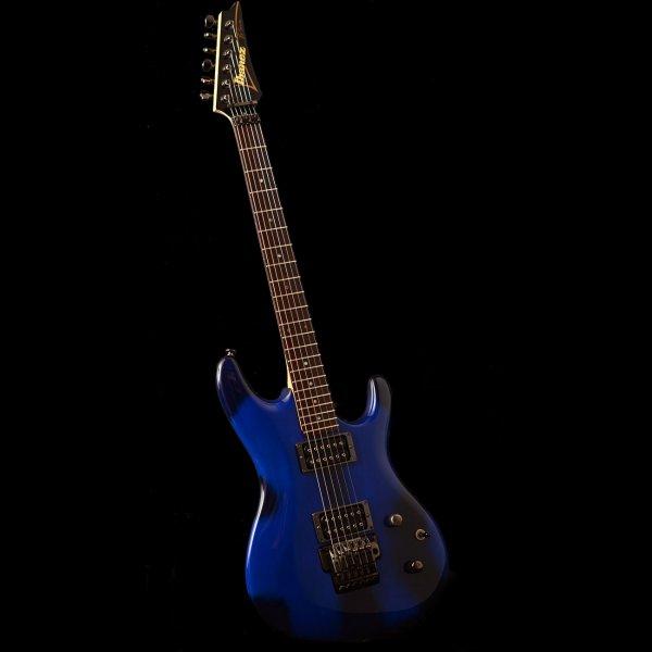 Buy Ibanez Js Btb Joe Satriani In Burnt Transparent Blue