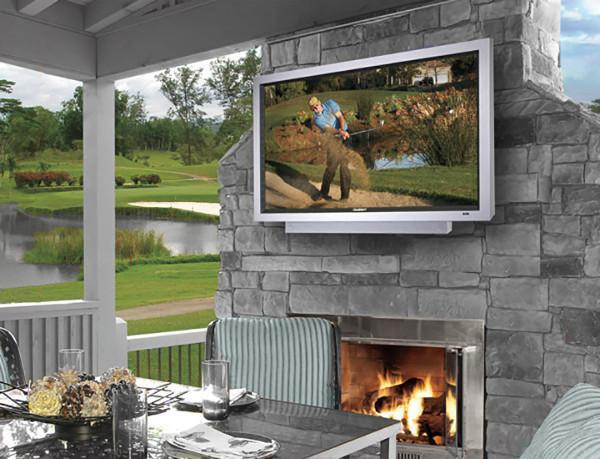 an outdoor tv for fall football