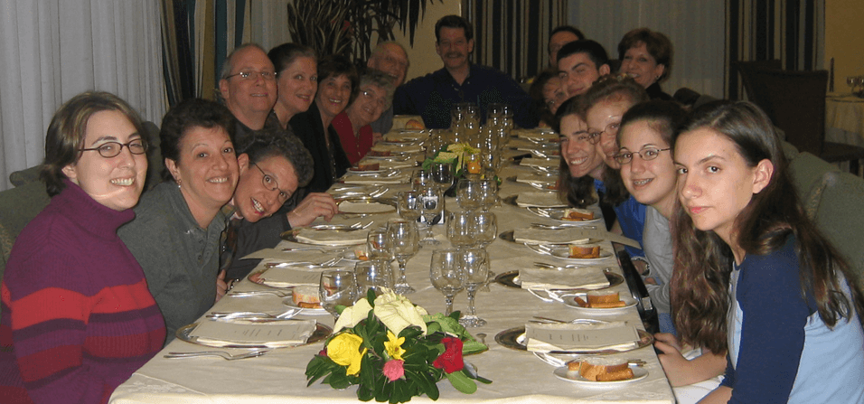 Sue Borra with family