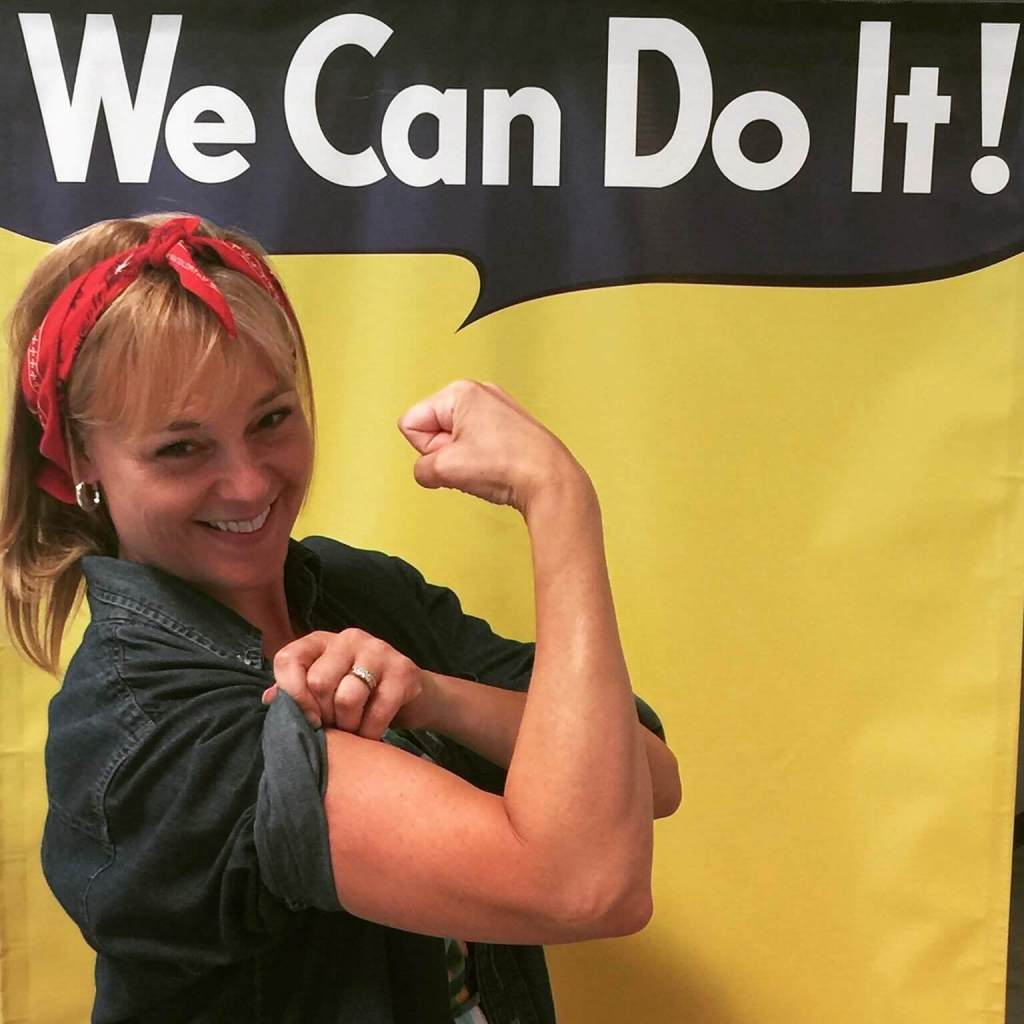 Melissa Dobbins as Rosie the Riveter