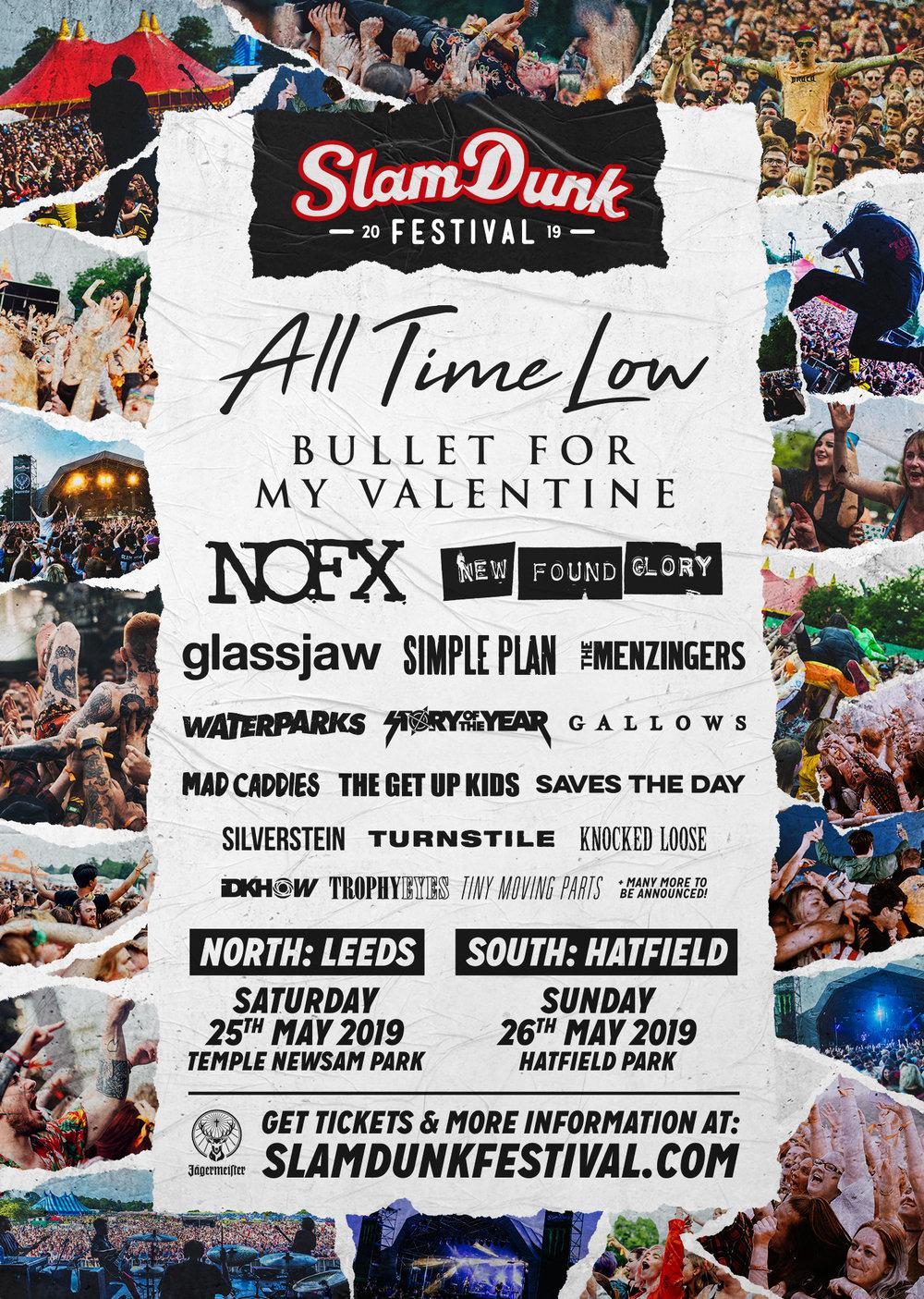 Slam Dunk Festival Announce Bullet For My Valentine Amp Many