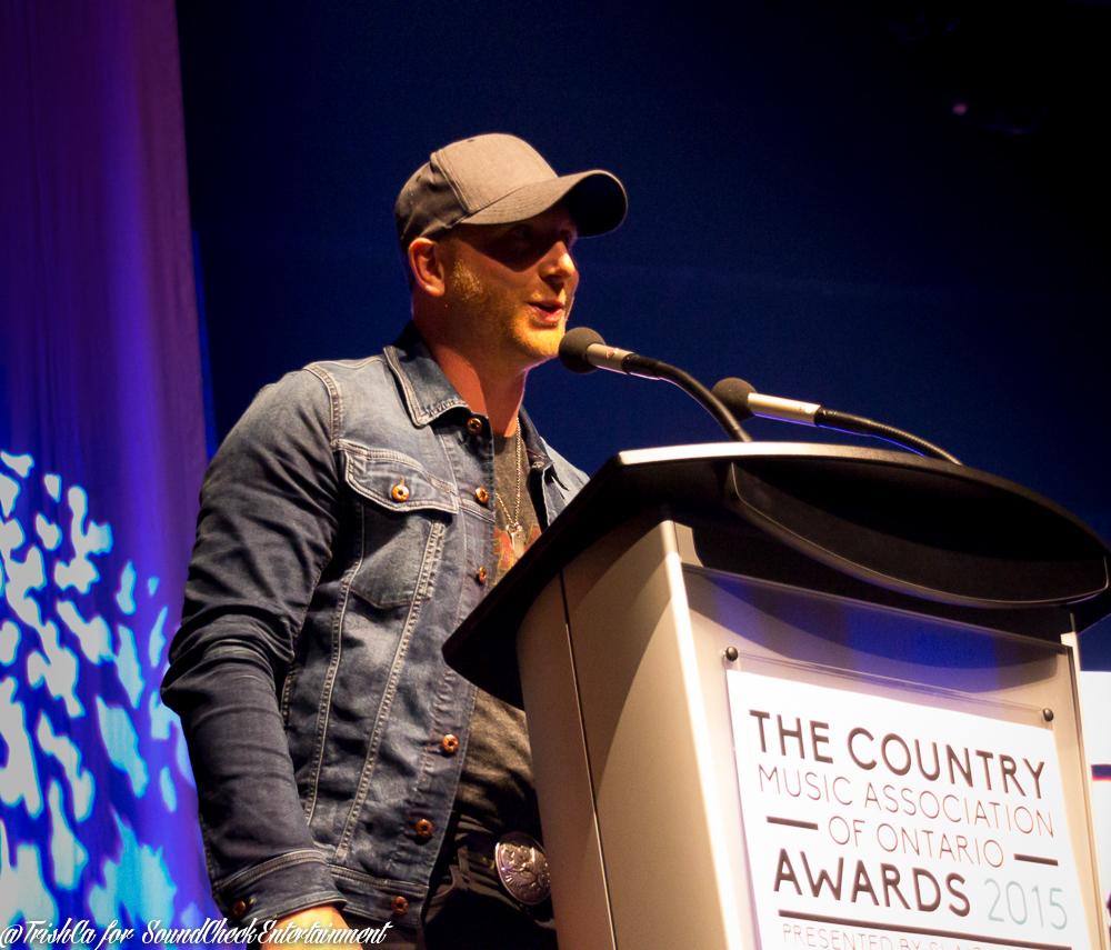 Tim Hicks  accepting Album of The Year - Photo: Trish Cassling