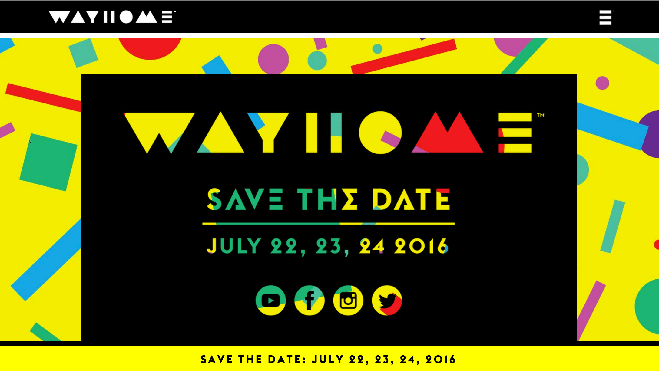 WayHome 2016 Announcement