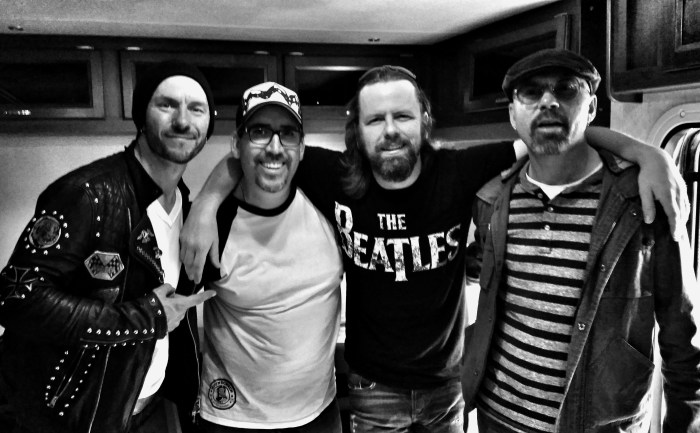 The Road Hammers with our Corey Kelly after they wrap the Mason Jar Session