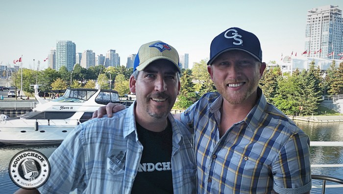 Cole Swindell with Sound Check's Corey Kelly