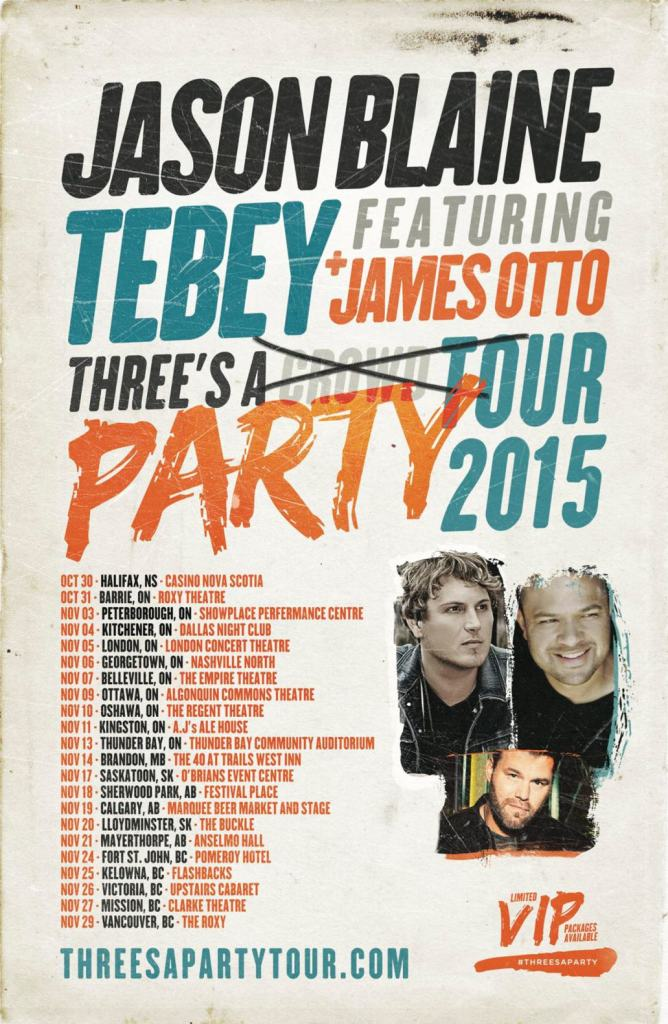 Three's A Party Tour Poster