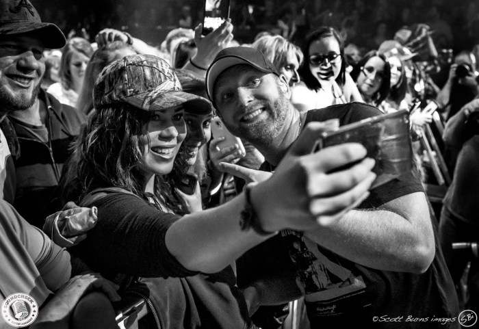 Tim Hicks takes time for a Selfie during the SOLD OUT show at the Guelph Concert Theatre - Photo: Scott Burns Images