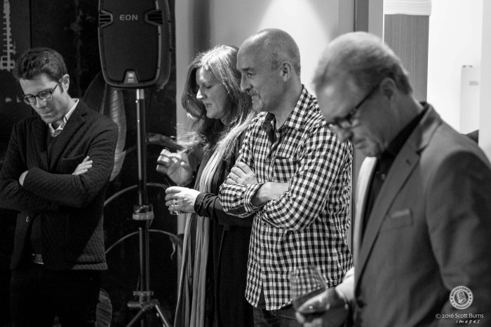 Guests listen to Tebey - Lightweight during the Listening Party - Photo: Scott Burns