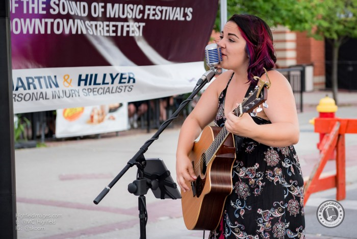 Bianca Bernardi performs at the Sound of Music Festival in Burlington - Photo: Mike Highfield