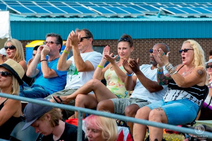 Fans loving the music at Newmarket Jazz+ Fest. Photo: Scott Burns