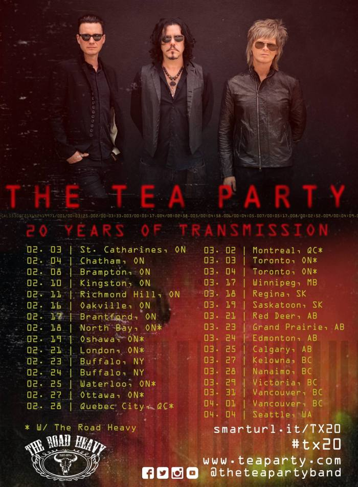 The Tea Party 20 Years of Transmission Tour #TX20