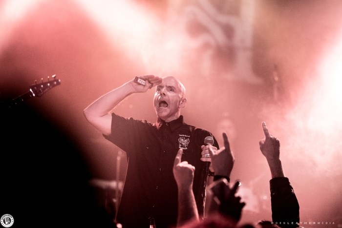 Hugh Dillon of the Headstones salutes the crowd at Barrymore's in Ottawa November 25 photo by Dave Di Ubaldo