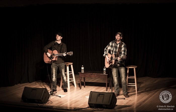 Tristan Horncastle and Brad Bailey perform at the Joshua Bates Centre in Athens, ON - photo by Dale Sinclair