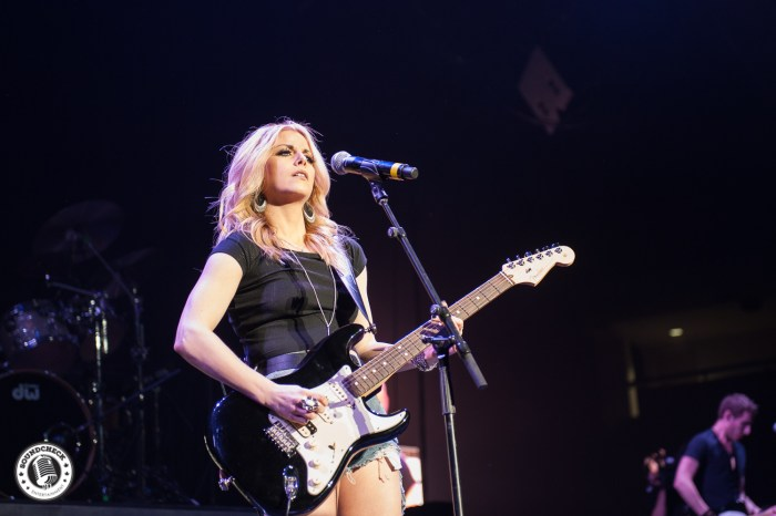 Lindsay Ell performs as part of Brad Paisley's Life Amplified Tour stop in Kingston - photo by Ron Pettitt