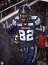 Argos players warming up at the 105th Grey Cup in Ottawa photo Renee Doiron