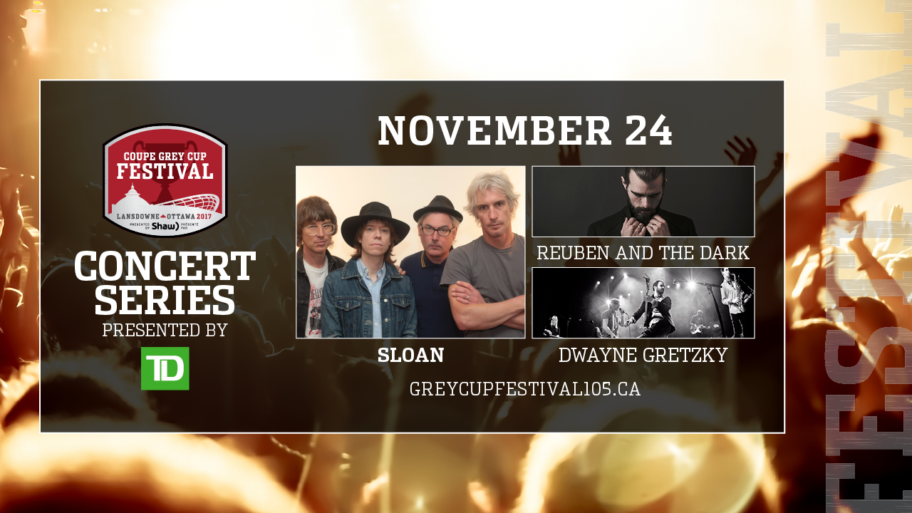 Sloan Leads Alternative Lineup For Grey Cup Festival Night