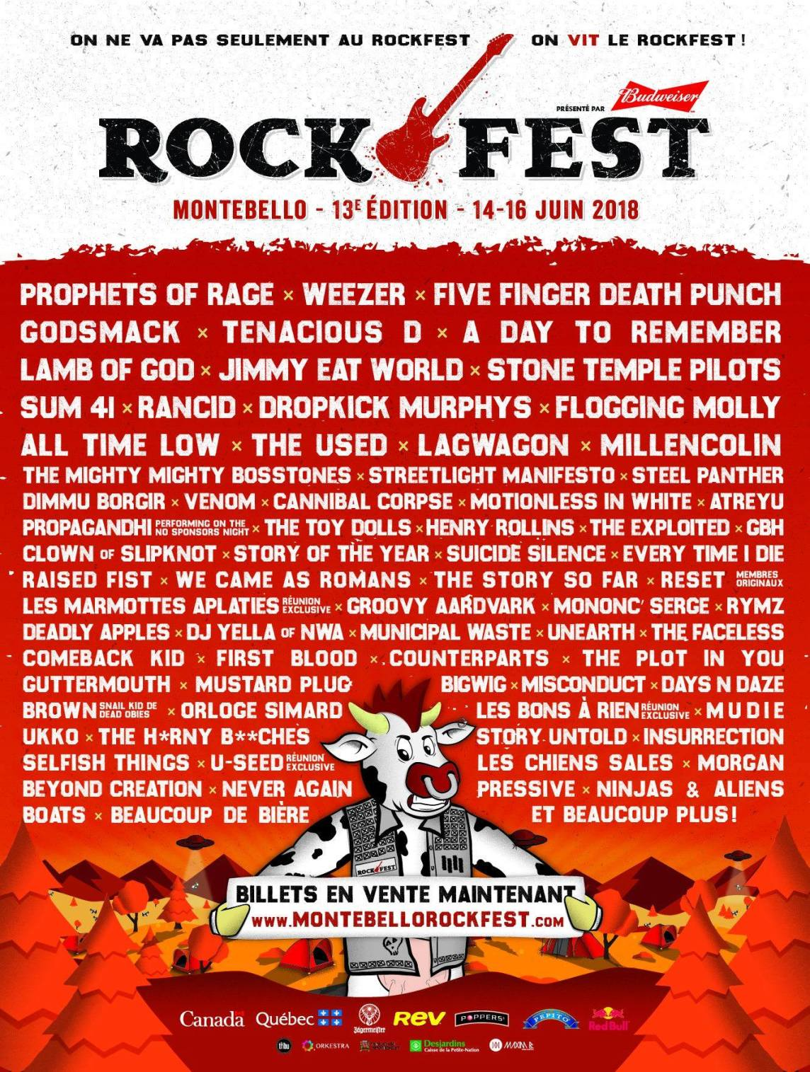 The 13th Edition Of Montebello Rockfest Full Lineup