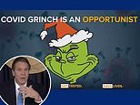 Gov Cuomo ridiculed for playing Christmas music at briefing as he declares: 'COVID is the Grinch'