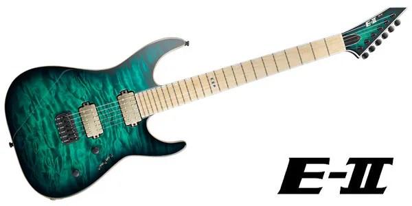 E-II ( イーツー ) / M-II NT HIPSHOT Black Turquoise Burst