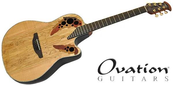 [直輸入品] ■エレクトリック・アコースティックギター(エレアコ) ■Celebrity Elite Plus シリーズ、CE44P ■カラー:ナチュラル ■トップ:スポルテッドメイプル ■バック:リラコード、ミッドデプスボウル ■ネック:ナトー ■指板:オバンコール ■ナット幅:43mm ■スケール:641mm ■エレクトロニクス:OP-4BT with Ovation Slimline Pickup ■ブリッジ;:オバンコール
