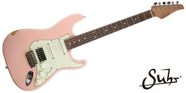 SUHR ( サー ) / Mateus Asato Signature Series Classic Antique Shell Pink HSS